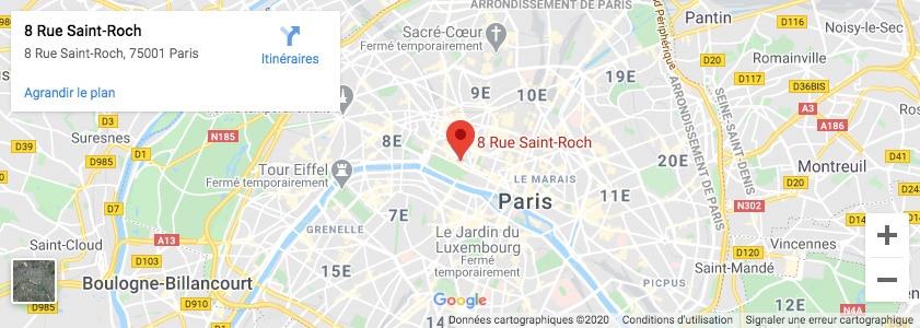 Plan Paris Imprimerie Copymage